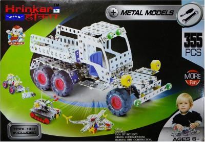 Hrinkar Aolida Metal Models Truck Construction Set 3D Stainless Steel Puzzle 355 Pcs