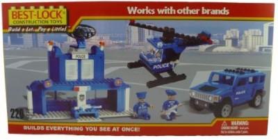 Best-Lock Construction Police Headquarters Set 220 Piece Set