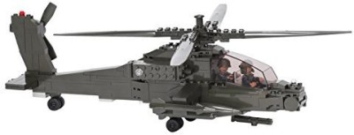 Ultimate Soldier Attack Helicopter Military Building Kitgreen