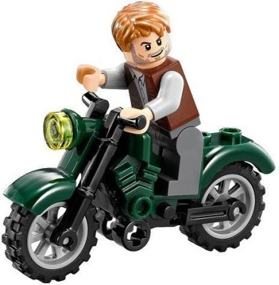 Buengna Lego Jurassic World Owen With Motorcycle
