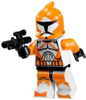 Star Wars Lego Mini Orange Bomb Squad Trooper With Blaster Gun (7913)