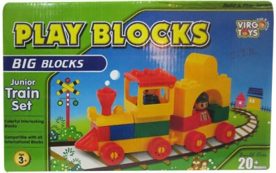DCS Play Blocks junior Train set (Big Blocks)(Multicolor)