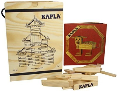 Kapla 280 Piece Set With Red Advanced Animals And Architecture