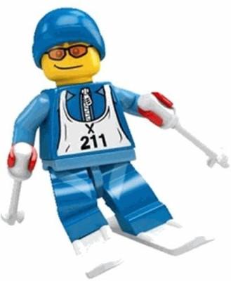 Lego Mini Collection Series 2 Loose Mini Skier