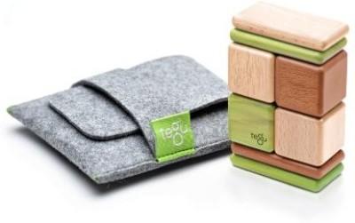 Tegu 8 Piece Pocket Pouch Magnetic Wooden Block Set, Jungle