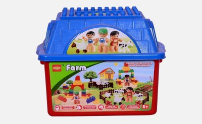 Planet of Toys Farm Block Set for Smart Growth