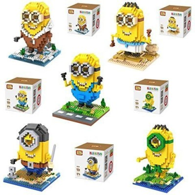 LOZ Despicable Me 2015 - Set of 5 Ancient Egyptian/Arctic/Pirate/Prehistoric Minions Cosplay