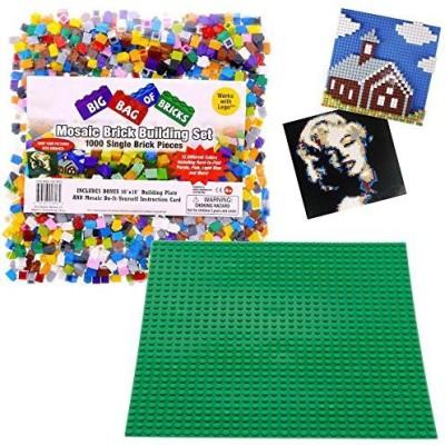 SCS Direct Brick Building Mosaic Set Scs 1000 Small Single Pieces