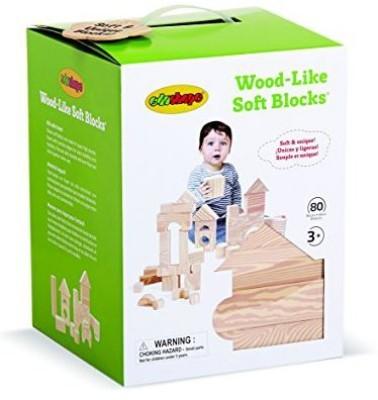 Edushape Ltd Edushape Wood Like 80 Piece Soft Blocks, Wood