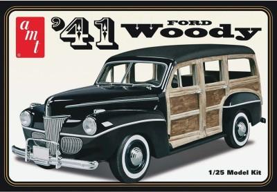 AMT USA 1/25 Scale 1941 Ford Custom Woody Plastic Model Kit