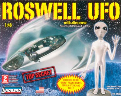 Lindberg USA 1/48 Scale Roswell UFO with Alien Crew Plastic Model Kit