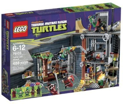 Teenage Mutant Ninja Turtles Lego Ninja Turtles Turtle Lair Attack 79103