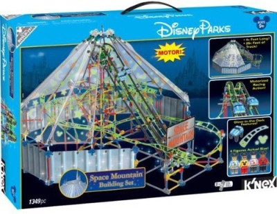 K,Nex Disney Store Deluxe Knex Space Mountain Motorized Building