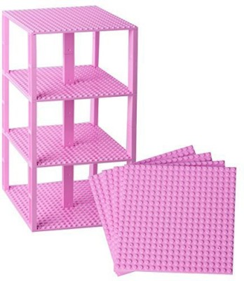 Strictly Briks Premium Pink Stackable Base Plates 4 Pack 6