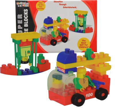 Kreative Kids Super Police Blocks Construction Set- Education through Entertainment - Age 3+