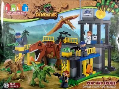 Jaibros Jdlt Dinosaur Play and Create 135 Pcs Block Construction Set
