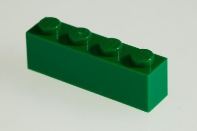 Factory Fresh Bulk Bricks 200X Lego Dark Green (Green) 1X4 Bricks Super Pack