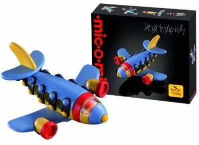 Mic-O-Mic Micomic Build And Play Jet Plane Construction Kit Ages 5+