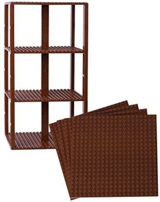Strictly Briks Premium Brown Stackable Base Plates 4 Pack 6