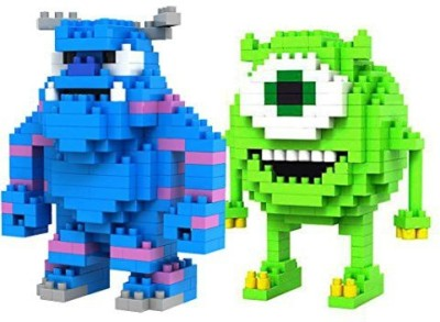 LOZBlock Loz Diamondmonsters Inc Mike Wazowski And Sulley 2 Pcs Set