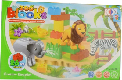 Mera Toy Shop Zoo Blocks 26 pcs