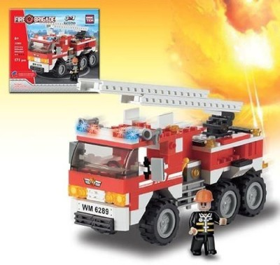 BRICTEK Fire Engine Building Kit