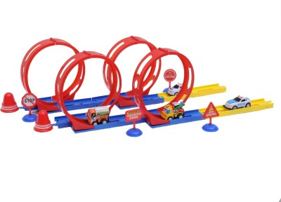 Happy Kids Stunt Track with Four 360-Degree Loops