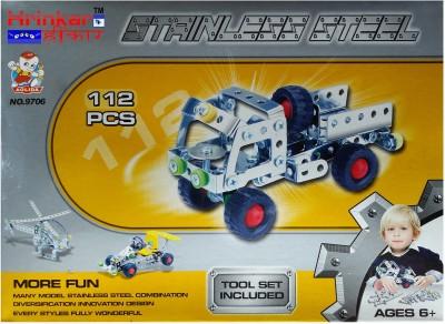 Hrinkar Aolida Metal Truck Construction Set 3D Stainless Steel Puzzle 112 Pcs