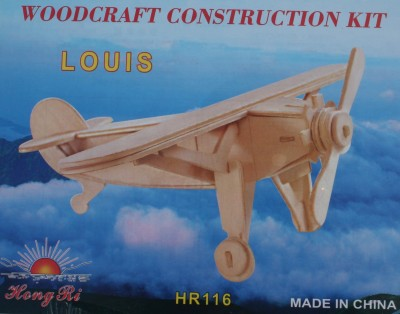 Edu Expert Wood Airplane Model Hr116 Louis