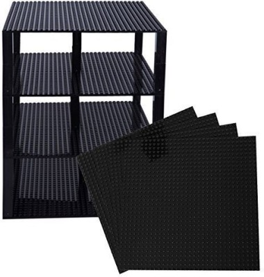 Strictly Briks Premium Black Stackable Base Plates - 4 Pack 10