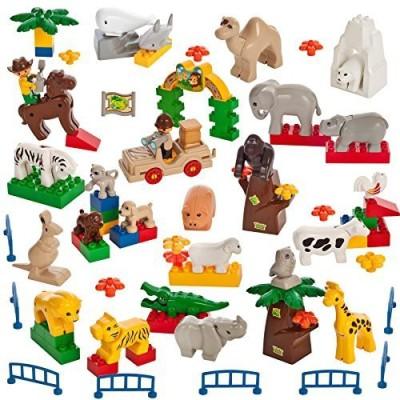 Smart Builder Toys Over 60 Piece Animal Set Wild Farm Ocean Desert