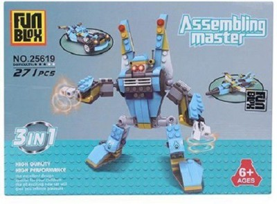 Fun Blox 3 in 1 Assembly Master - 271 Pieces