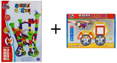Flying Start Magna Blocks 40pcs + Marble Run 100 pcs combo