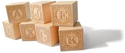Uncle Goose Uppercase Alphablanks Blocks - Made in USA