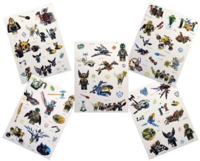Chima Set Of 50 Random Lego Stickers On 5 Sticker Sheets Ranging