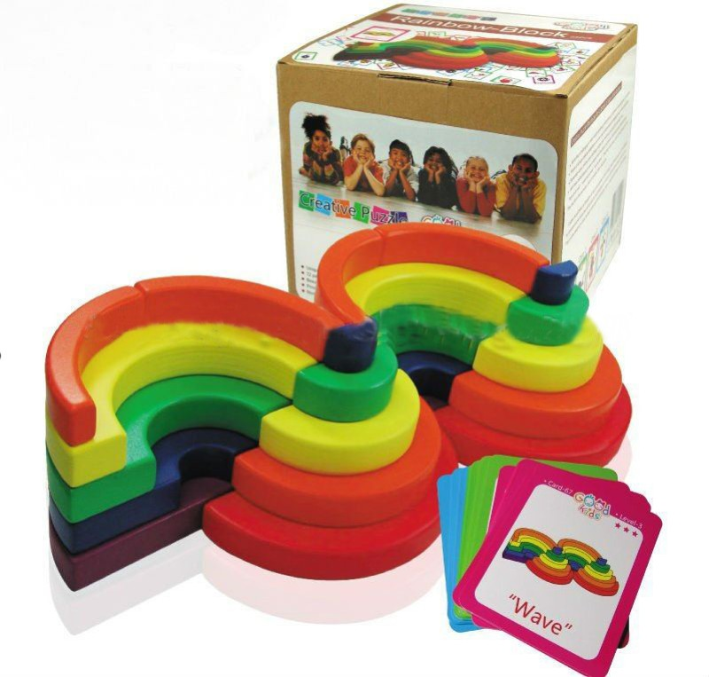 Atanands Wooden Rainbow Blocks(Multicolor)