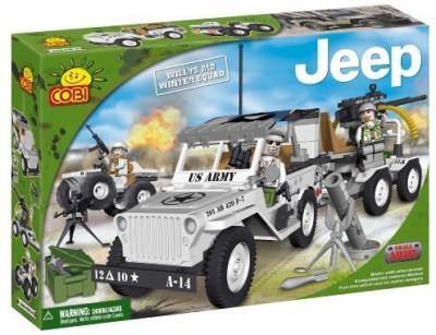 COBI New Jeep Willys Winter Squad Jeep 250 Piece Building Set