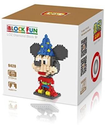 iBlock Fun LOZ Diamond Block Disney Mickey Mouse As The Sorceror,S Apprentice I Fun Loz