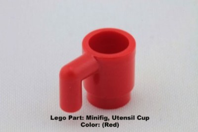 Parts - Minifig, Utensil Lego Parts Minifigutensil Cup (Red)