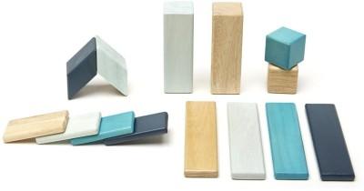 Tegu 14 Piece Tegu Magnetic Wooden Block  Set, Blues