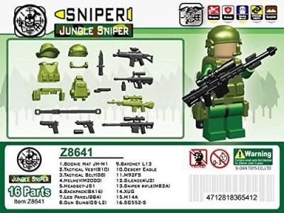 Minifig.Cat Jungle Sniper Mini Gear Packdark Green