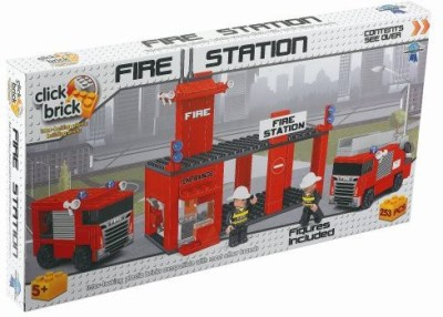 Click Bricks Fire Station Set (257Piece)