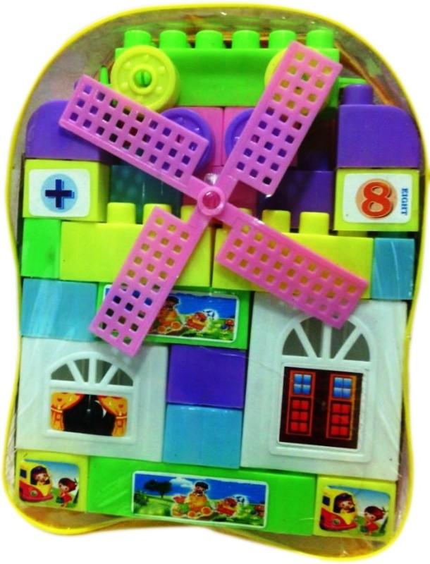Shop & Shoppee Building Block Bag Set- 24 Pcs(Multicolor)