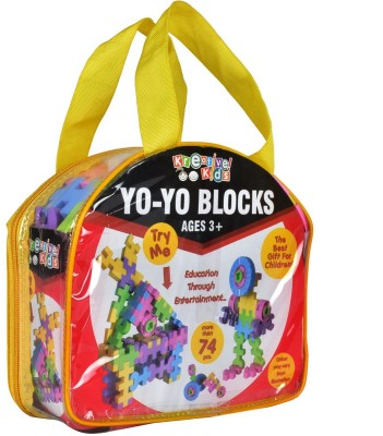 Kreative Kids Yo-Yo Blocks - More than 74 pcs Construction set