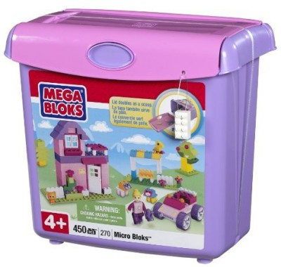 Mega Bloks Micro Bloks Scoop,N Build Bucket Pink