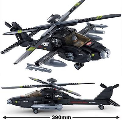 Sluban Building Block Boeing Ah-64 Apache Helicopter Gunships B0511 293pieces