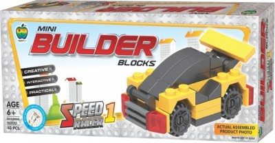 Lotus Applefun Mini Builder Blocks Speed Racer 1(Multicolor)