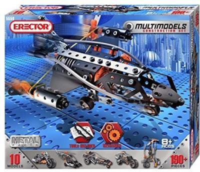 Erector Multi Model 10 Model Set - 190 Pieces