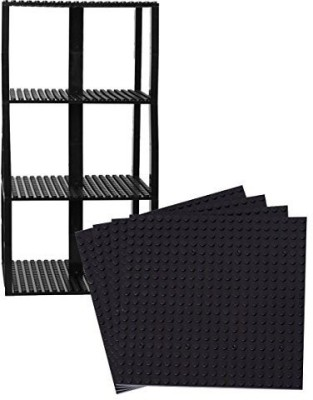 Strictly Briks Premium Black Stackable Base Plates 4 Pack 6