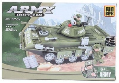Fun Blox Army Tank Blocks Set - 213 Pieces